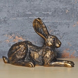Violet Sitting Hare Bronze Effect Sculpture by Harriet Glen - Prezents.com