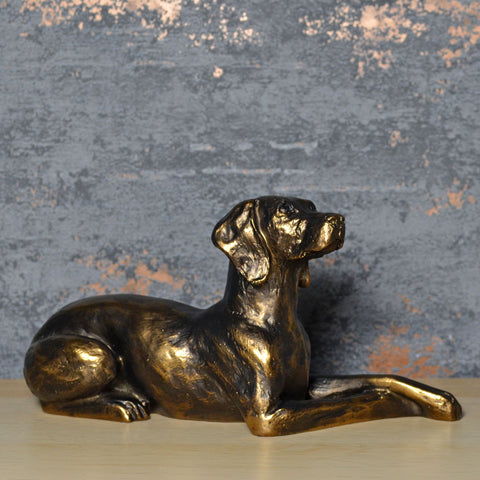 Weimaraner Bronze Effect Sculpture by Harriet Glen - Prezents.com