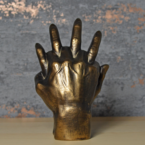 Holding Hands Bronze Effect Sculpture