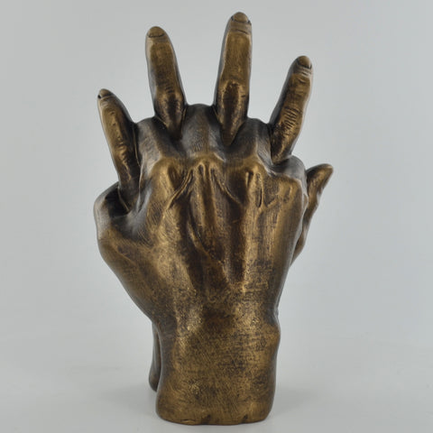 Holding Hands Bronze Effect Sculpture - Prezents.com