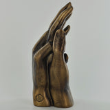 Hands Entwined Bronze Effect Sculpture - Prezents.com