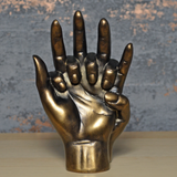 Hands Entwined Bronze Effect Sculpture