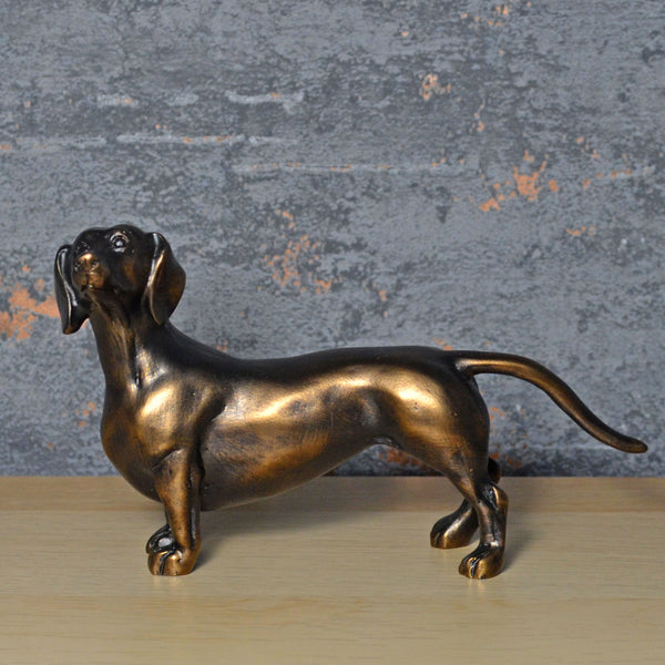 Dachshund Bronze Effect Sculpture - Prezents.com
