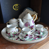Miniature Pink Poppy Porcelain Tea Set - Prezents.com