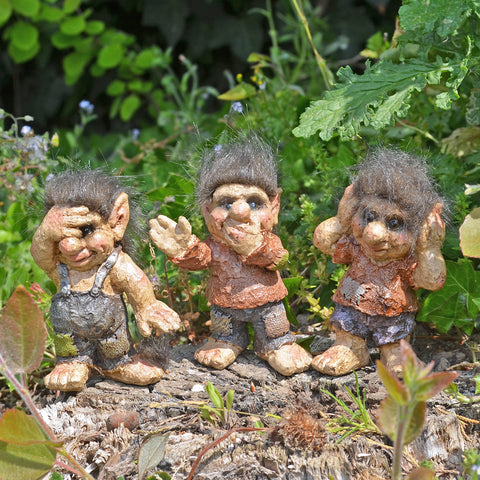 Troll Town - See, Hear, Speak No Evil Set of Three - Prezents.com