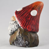 Fat Garden Gnome in a Toadstool Hat - Prezents.com