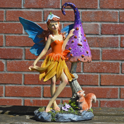 Summer Fairy, Magic Toadstool & Squirrel