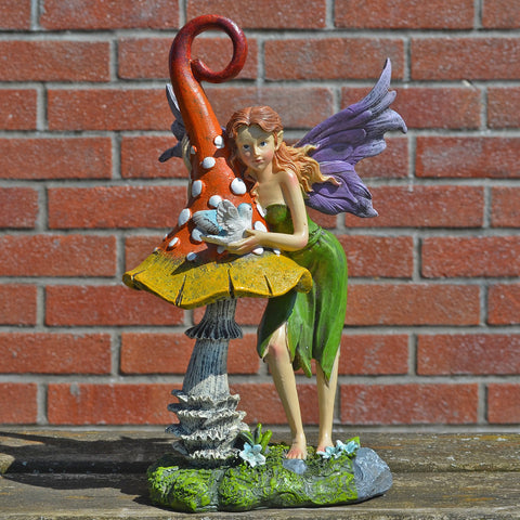Summer Fairy, Magic Toadstool & Bird - Prezents.com