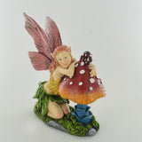 Summer Fairy, Knelt on Toadstool - Prezents.com