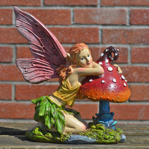 Summer Fairy, Knelt on Toadstool