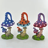 Fairy Garden - Three Colourful Toadstools - Prezents.com