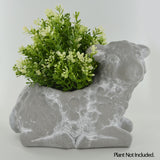 Lamb Shaped Concrete Effect Plant Pot - Prezents.com