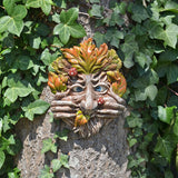 Tree Face Plaque - Cheeky Mouth