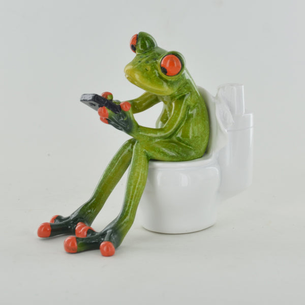 Comical Frogs - On A Bog - Prezents.com