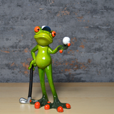 Comical Frogs - Golfer