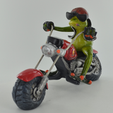 Comical Frogs - Biker
