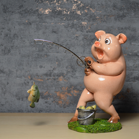 Comical Pigs - Fishing