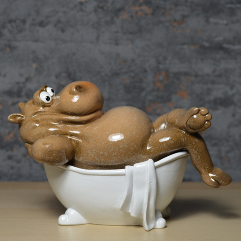 Comical Hippos - In the Bath