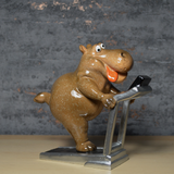 Comical Hippos - On the Treadmill
