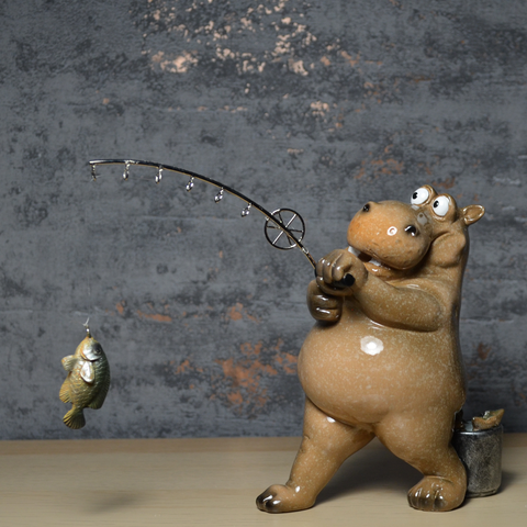 Comical Hippos - Fishing