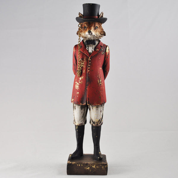 Dapper Fox in a Hunting Uniform - Prezents.com