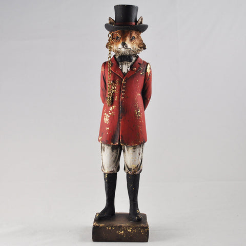 Dapper Fox in a Hunting Uniform