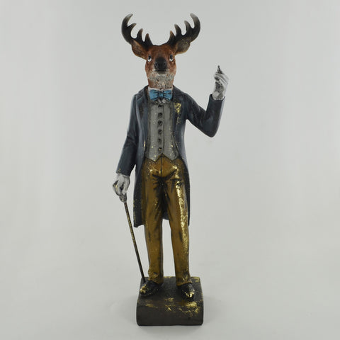 Dapper Stag with Suit and Cane - Prezents.com