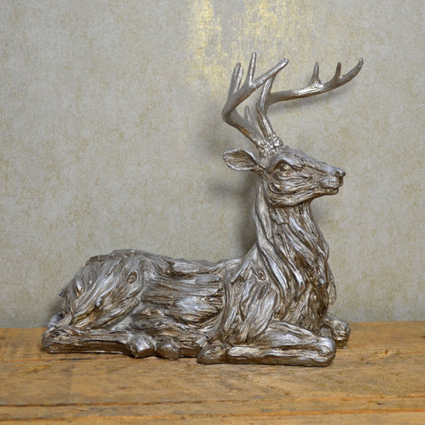 Winter Deer Sitting Christmas Ornament - Prezents.com