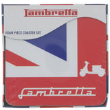 Lambretta Union Jack Coaster Set - Prezents.com