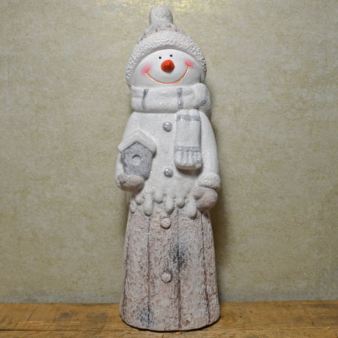 Snowy Snowman Christmas Ornament - Prezents.com