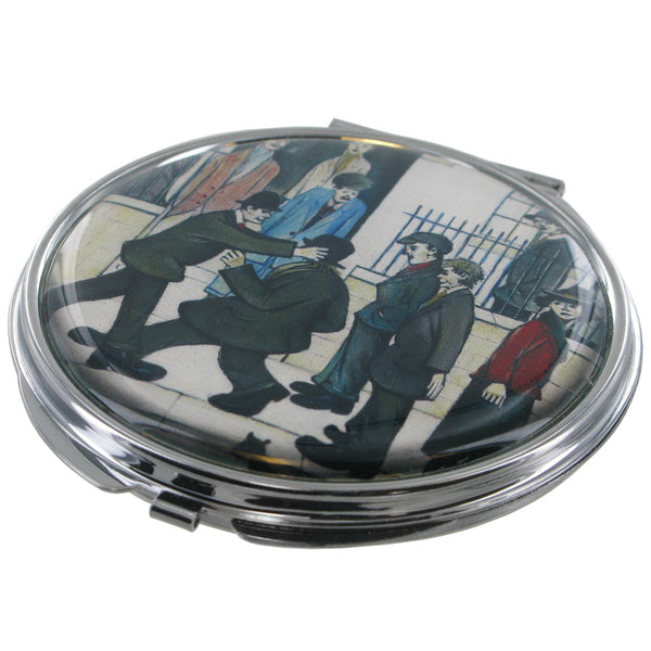 L.S Lowry A Fight Compact Mirror - Prezents.com