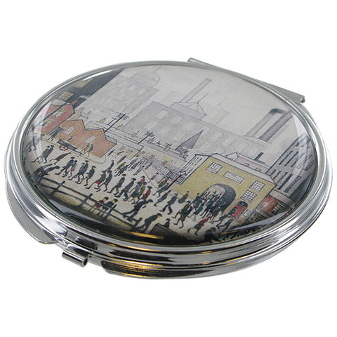 L.S Lowry Coming From The Mill Compact Mirror - Prezents.com