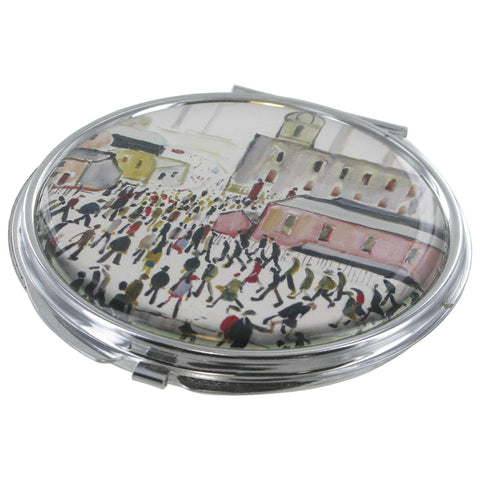 L.S Lowry Going To Work Compact Mirror - Prezents.com