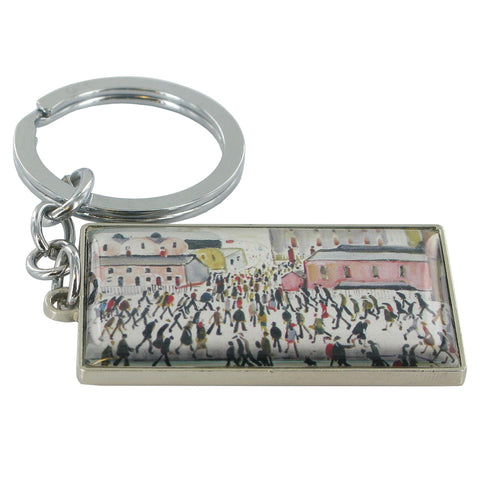 L.S Lowry Going To Work Metal Key Ring - Prezents
