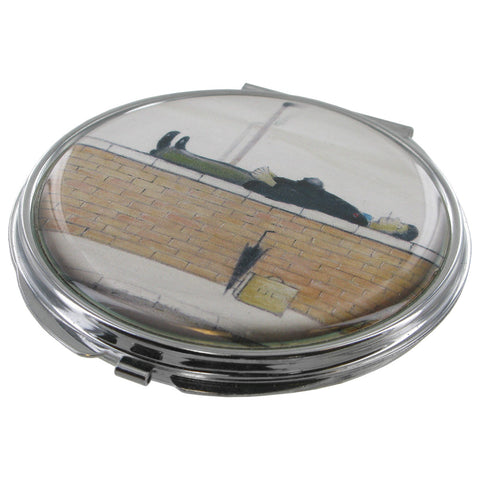 L.S Lowry Man Lying On A Wall Compact Mirror - Prezents.com