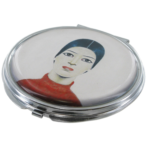 L.S Lowry Portrait of Ann Compact Mirror - Prezents.com
