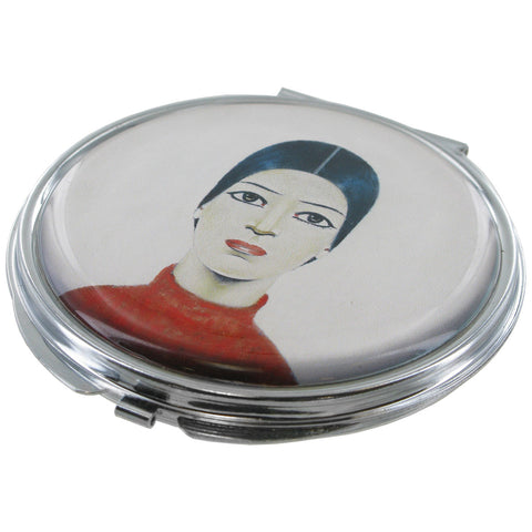 L.S Lowry Portrait of Ann Compact Mirror - Prezents  - 1