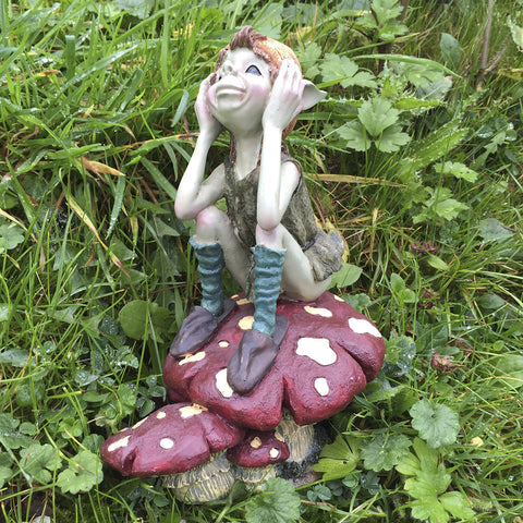 Pixie Thinking On A Mushroom by Tony Fisher - Prezents.com