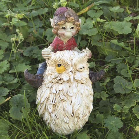 Pixie Racing An Owl Sculpture by Tony Fisher - Prezents  - 2