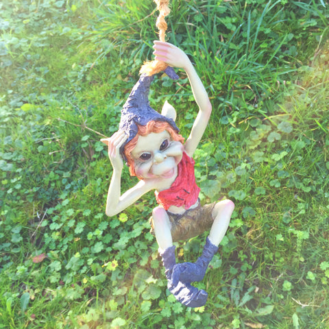 Pixie on a Rope Swing Sculpture by Tony Fisher - Prezents