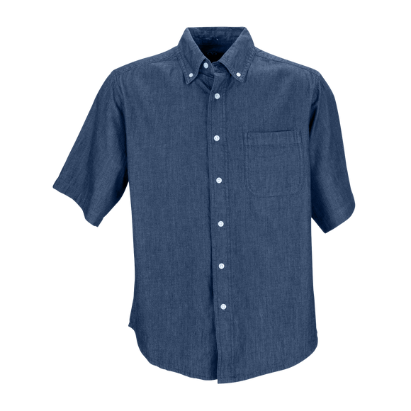 B2073M Mens Short Sleeve Hudson Denim Shirt