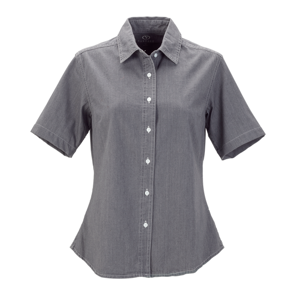 B2073W Ladies Short Sleeve Hudson Denim Shirt