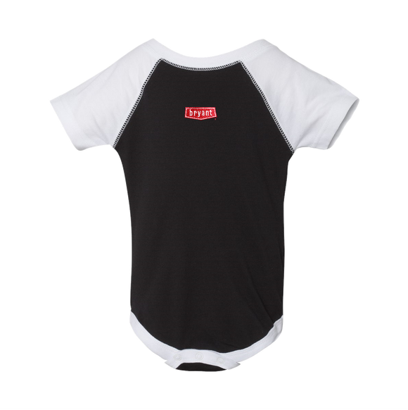 BY1810B Infant Baseball Fine Jersey Bodysuit