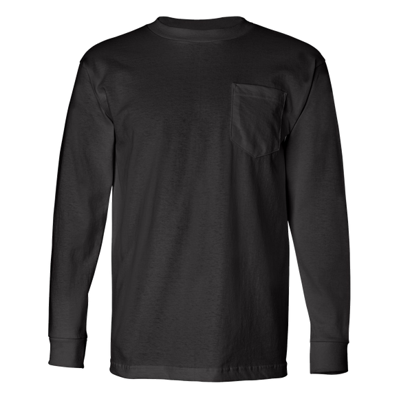 B1205 USA-Made Long Sleeve Pocket Tee