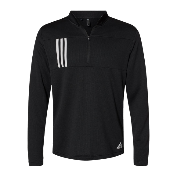 B2080M Mens 3 Stripes Double Knit 1/4 Zip Pullover