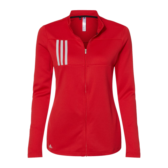 B2080W Ladies 3 Stripes Double Knit Full Zip Jacket