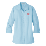 B1826W Ladies Micro Tattersall Easy Care Shirt