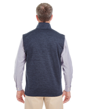 B1794M Mens Newbury Melange Fleece Vest