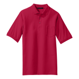 B1308MPT Mens Tall Silk Touch Pocket Polo