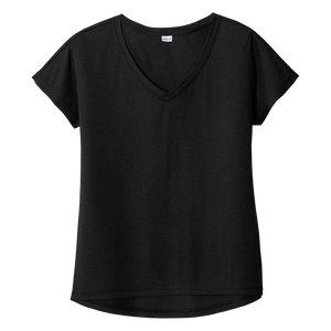 B2102 Ladies Tri-Blend Wicking Dolman Tee